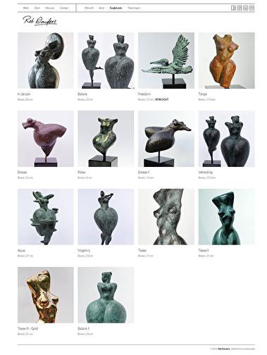 sculpturen overzicht