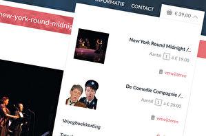 webshop kaartverkoop theater winkelmand