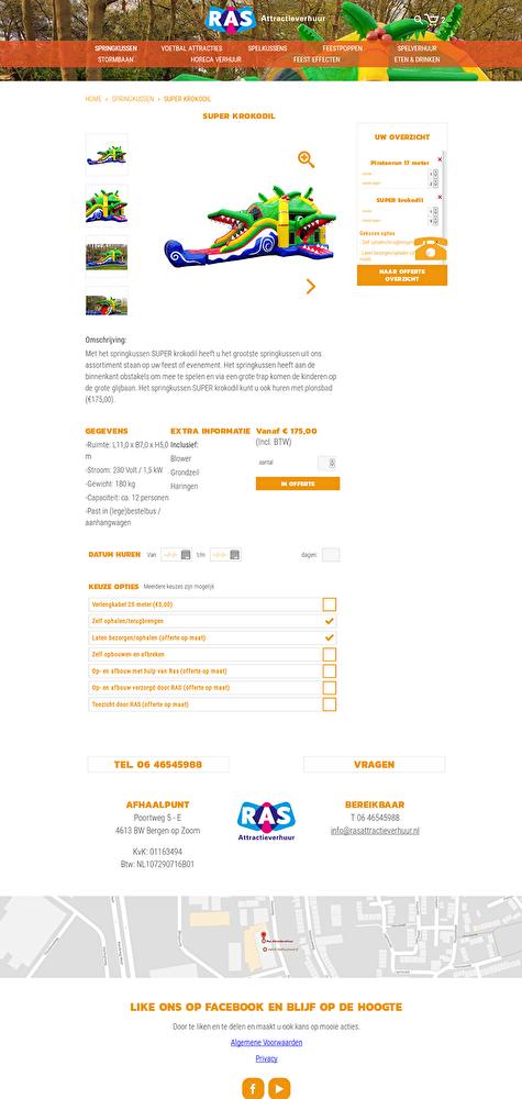 webwinkel product detail