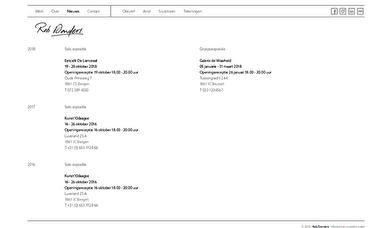 webwinkel template gallerie agenda